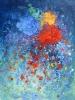 Farbengewitter - Öl auf Leinwand 80 x 100 cm