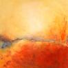 Feuerspiel - Öl auf Leinwand 80 x 80 cm