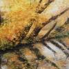 Herbst am Fluss - Öl auf Leinwand 80 x 80 cm