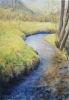 Fluss - Öl auf Leinwand 70 x 100 cm